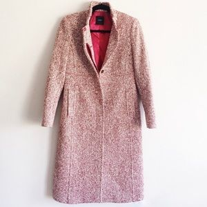 J Crew Boucle Speckled Long Topper Top Wool Coat